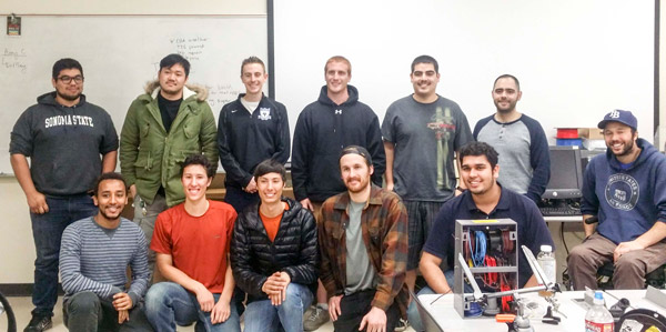 SRJC Students with SSU EE Students
